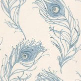 Prestigious Peacock Indigo Wallpaper