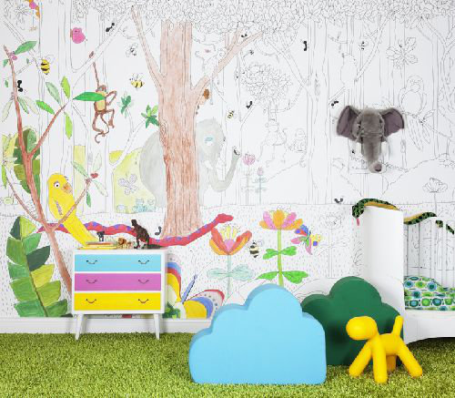Mr Perswall Jungle Dudes Mural - Product code: P120102-8