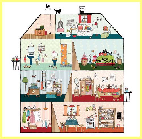 Mr Perswall Home Sweet Home Mural - Product code: P120701-W