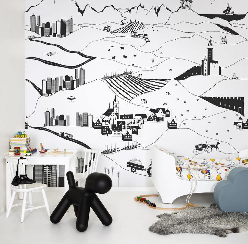 Mr Perswall My Village Mural - Product code: P120901-W