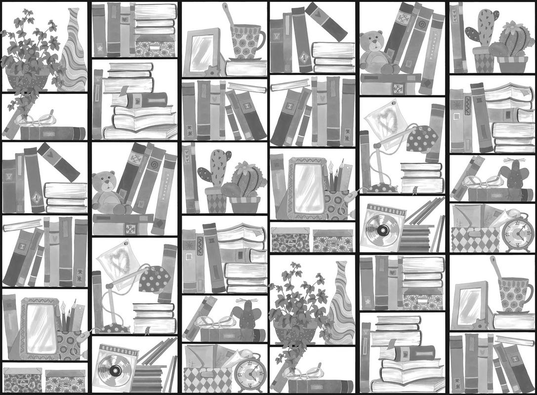 Mr Perswall Book Look Mural - Product code: P121601-W