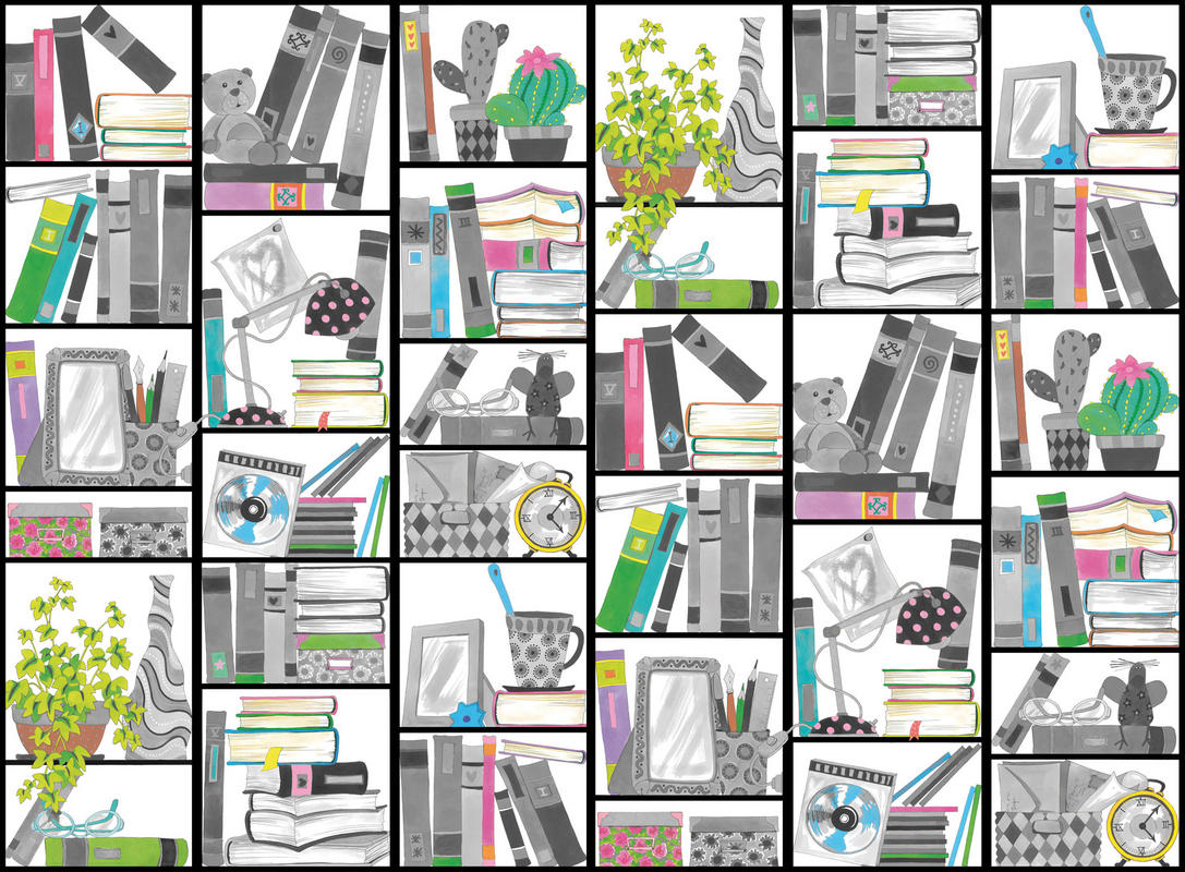 Mr Perswall Book Look Mural - Product code: P121602-W