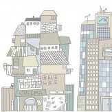 Mr Perswall Cartoon City Mural - Product code: P122101-W