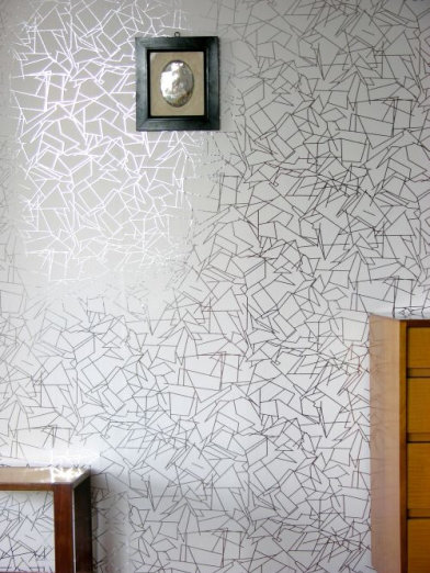 Image of Erica Wakerly Wallpapers Angles Silver White, ANG S/W