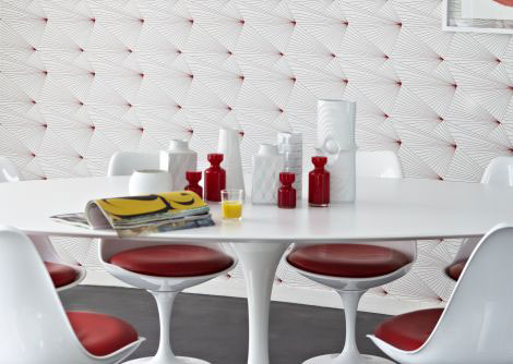erica wakerly fan red white wallpaper