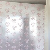 Erica Wakerly Hibiscus Pink Silver Wallpaper