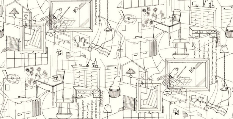 Image of Erica Wakerly Wallpapers Homes Black Cream, HOM B/C
