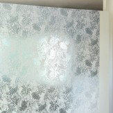 Erica Wakerly Hothouse Jade Silver White Wallpaper