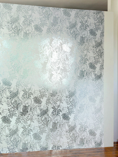 Image of Erica Wakerly Wallpapers Hothouse Jade Silver White, HOT J/S/W