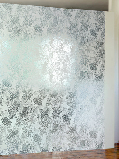 Erica Wakerly Hothouse Jade / Silver / White Wallpaper main image