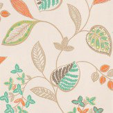 Harlequin Samara Orange / Green / Brown Wallpaper