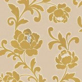 Kandola Kelway Flocked wallpaper crystallised  Lime / Silver - Product code: W1479/02/001