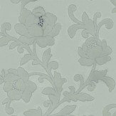 Kandola Kelway Flocked wallpaper crystallised  Duck Egg - Product code: W1479/03/001