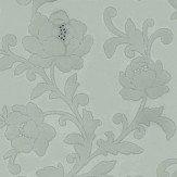 Kelway Flocked wallpaper crystallised