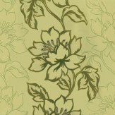 Kandola Amati Flocked Wallpaper crystallised  Green / Gold