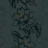 Kandola Amati Flocked Wallpaper crystallised