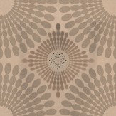 Kandola Starburst Flocked Wallpaper Crystalised  Gold - Product code: W1485/02/CRY
