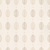 Little Greene Cones Lint Brown / Off White Wallpaper
