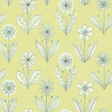 Little Greene Florette Acid Drop Black / White / Lime Wallpaper