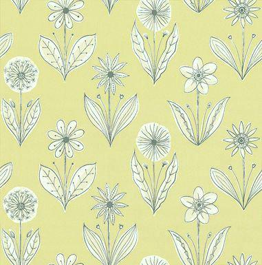 Little Greene Florette Acid Drop Black / White / Lime Wallpaper - Product code: 0271FLACIDD