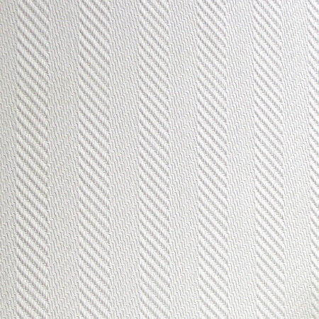 Herringbone Wallpaper - White - by Anaglypta