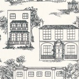Little Greene Hampstead Ink Ink Black Wallpaper