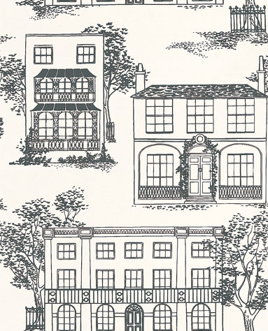 Little Greene Hampstead Ink Ink Black Wallpaper - Product code: 0271HAINKZZ