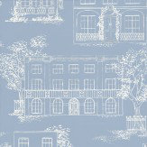 Little Greene Hampstead James Blue Wallpaper