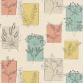 Little Greene Herbes Cocktail Pink / Blue / Green / Brown Wallpaper