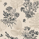 Little Greene Norcombe Couture Grey / Black / Off White Wallpaper