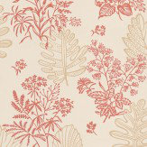 Little Greene Norcombe Jazz Red / Beige Wallpaper