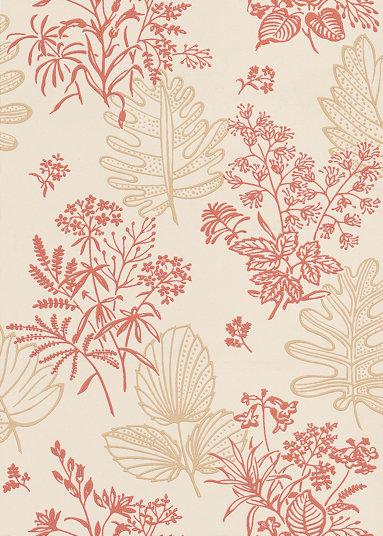 Little Greene Norcombe Jazz Red / Beige Wallpaper - Product code: 0271NRJAZZZ