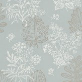 Little Greene Norcombe Welkin Grey / Soft Blue Wallpaper