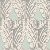 Osborne & Little Accademia Aqua / Silver Wallpaper