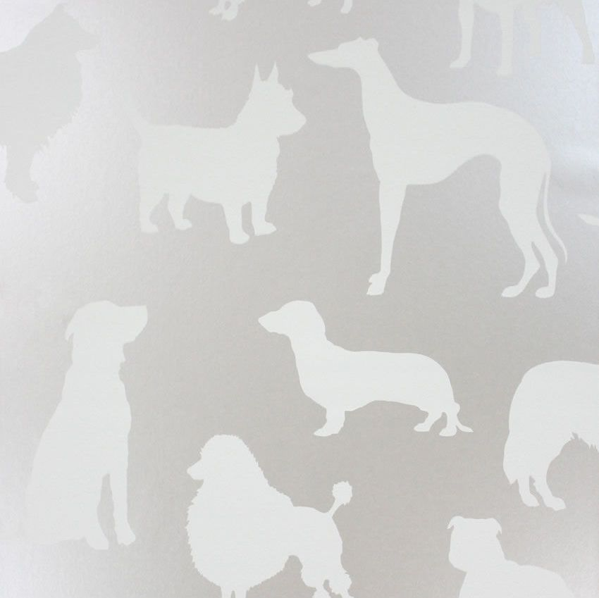 Osborne & Little Best In Show Ivory / Silver Wallpaper main image