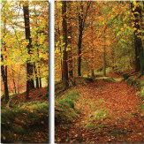 Arthouse Autumn Path Triptych Art