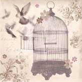 Arthouse Bronze Birdcage canvas Art