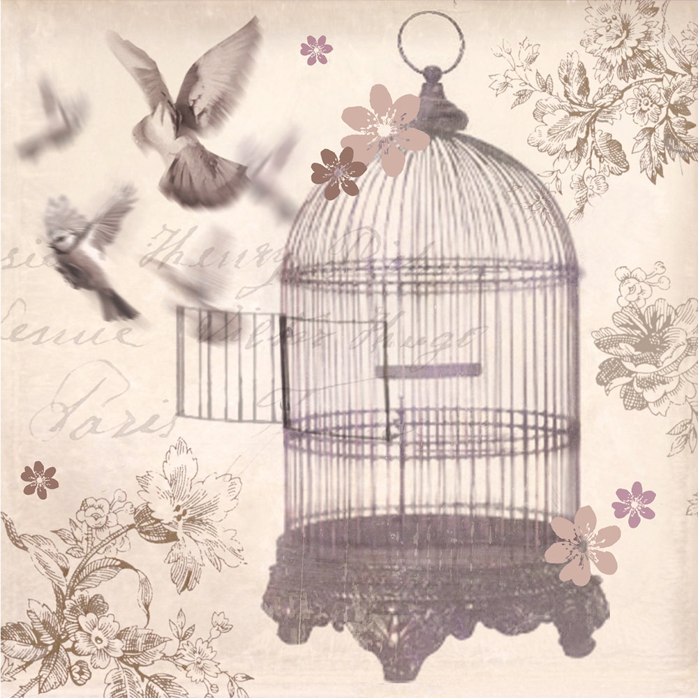 Bronze Birdcage Canvas By Arthouse Wallpaper Direct