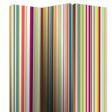 Arthouse Bright Stripe Screen Room Divider