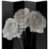 Arthouse Black & White Roses Screen Room Divider