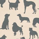 Osborne & Little Best in Show Charcoal / Cream Wallpaper