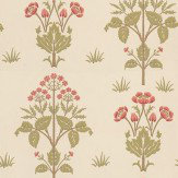 Morris Meadow Sweet Pink / Green / Neutral Wallpaper