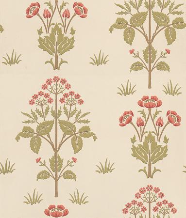 Morris Meadow Sweet Pink / Green / Neutral Wallpaper main image