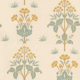 Morris Meadow Sweet Gold / Yellow / Blue Green Wallpaper - Product code: 210349