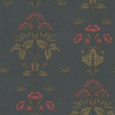 Morris Meadow Sweet Red / Charcoal Wallpaper