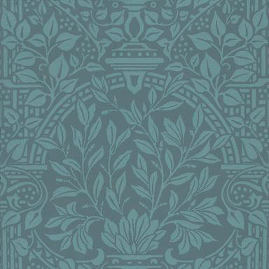 Morris Garden Craft Blue Wallpaper main image