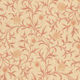 Morris Scroll Red / Cream Wallpaper - Product code: 210364
