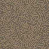 Morris Willow Chocolate / Beige Wallpaper - Product code: 210380