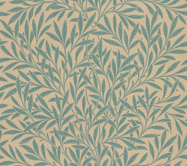 Morris Willow Blue Green Wallpaper Main Image