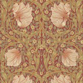 Morris Pimpernel Green / Red Wallpaper - Product code: 210386